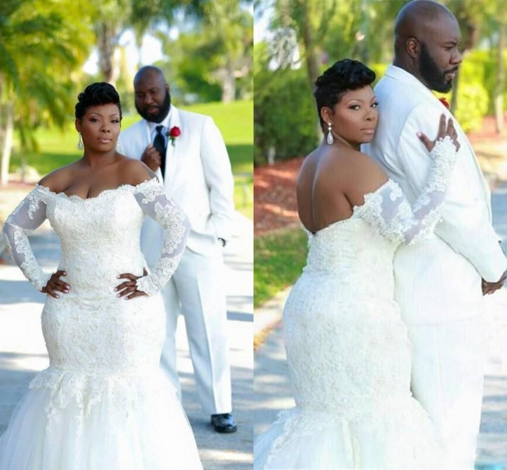 Großhandel Plus Size Afrikanische Hochzeits Kleider Nixe Art 2016 ...