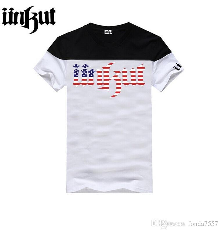 Frete grátis Unkut camisetas Homens Hip Hop Tee For Man Camisa Mens Com manga curta O Neck s-5XL