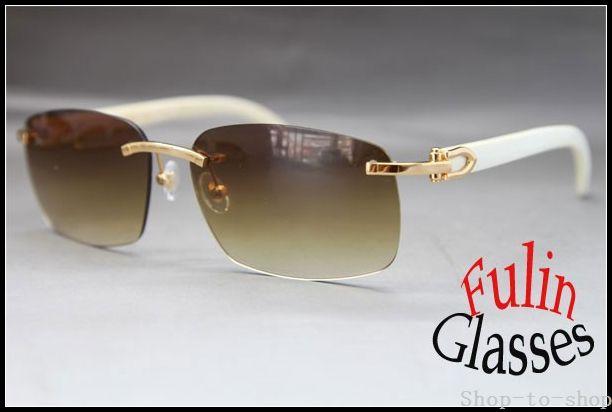 Wholesale New Sunglasses White Buffalo Genuine Horn Glasses All ...