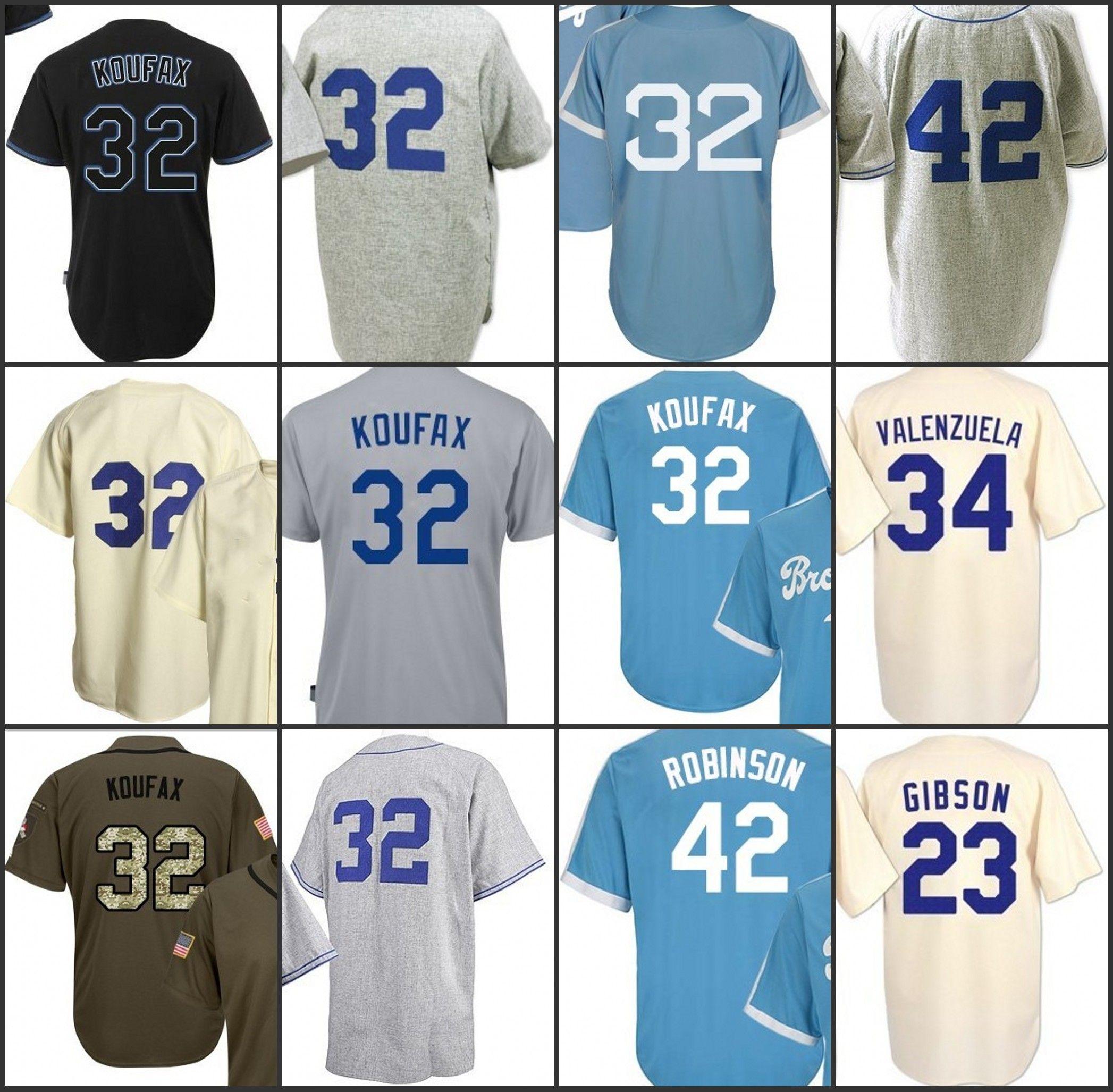 32 sandy koufax 42 player 23 kirk gibson 34 fernando valenzuela jersey mens authentic mitchell ness baseball jerseys sandy koufax jersey online with