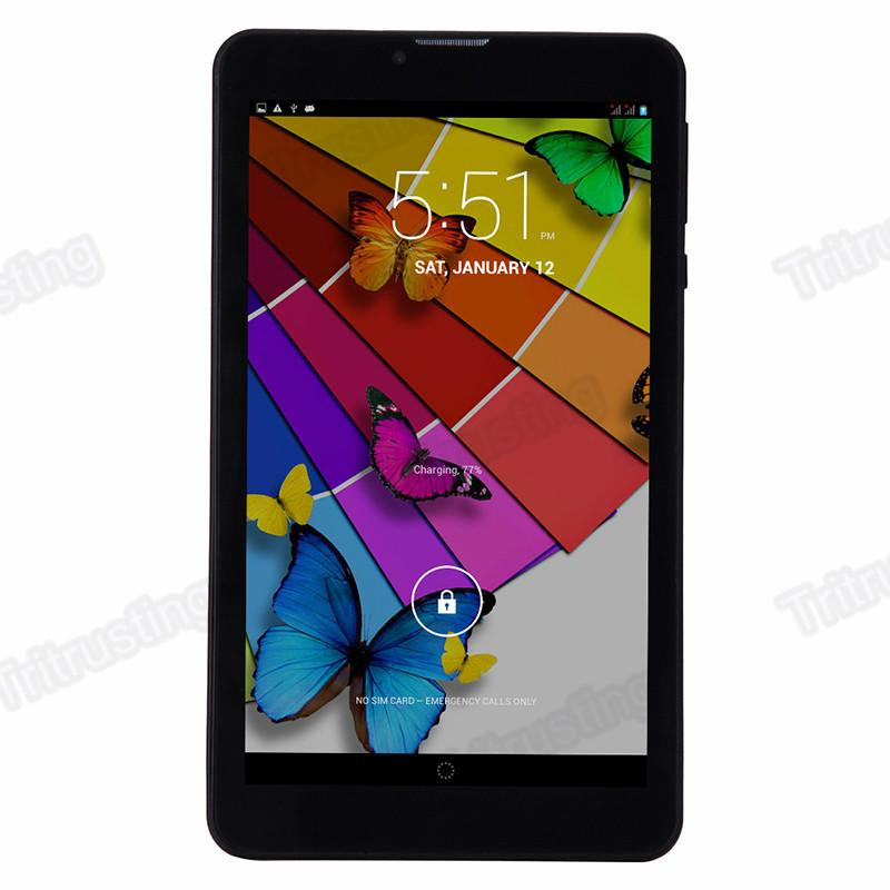 7 Polegada 3G Phablet Android 4.4 MTK6572 Núcleo Duplo 1.5 GHz 512 MB RAM 4 GB ROM 3G telefonema GPS Bluetooth WIFI WCDMA Tablet PC 706 MQ5