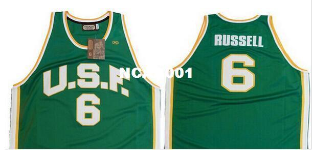2019 University Of San Francisco   6 Bill Russell College Jersey Back 88d64f072