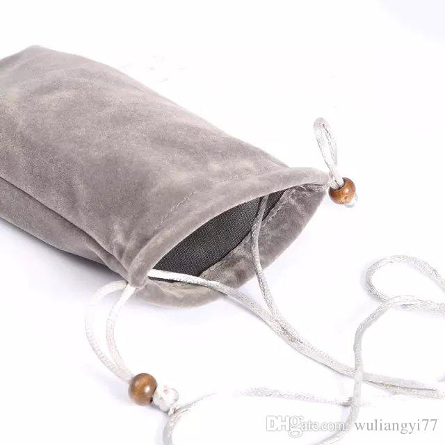 電話のフランネルコットンバッグユニバーサルポーチケースiPhone 6SプラスサムギャラクシーS6エッジS5 S4スリーブカバーハンドストラップ
