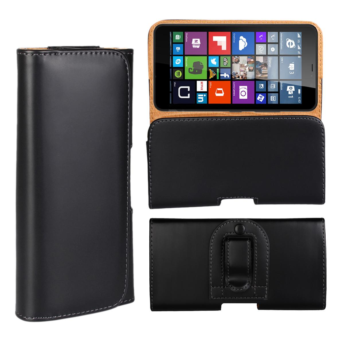 Wholesale Newest Waist Case Holster PU Leather Belt Clip Pouch Cover Case For Microsoft Lumia 640 XL For Nokia Lumia 640 XL Phone Bag Free