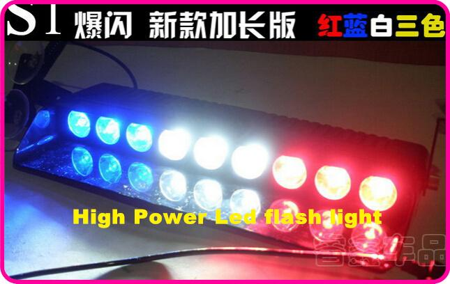 送料無料!高品質DC12 9ピースGeniii 1W LED車のフロントガラスダッシュライト、LEDの非常灯、LEDストロボ警告ライト、16フラッシュ