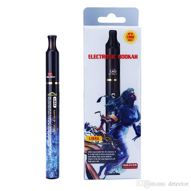 NEWEST 1800 puffs 12 constellation Hookah pens electronic Disposable Hookah cigarette 12 Fruit flavor E-cigarettes /box