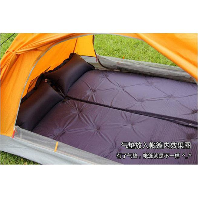 Outdoor Wind d&proof C&ing Mat air inflation Ground Sheet with pillow Tent Tarp Footprint 4 Tie Loops Portable PVC  sc 1 st  DHgate.com & 2018 Outdoor Wind Dampproof Camping Mat Air Inflation Ground Sheet ...