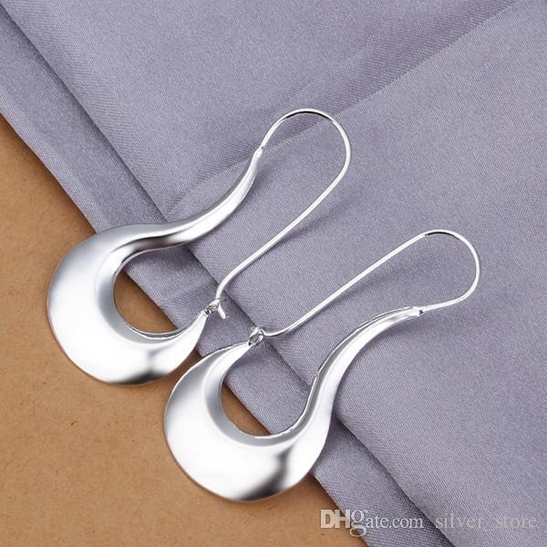 العلامة التجارية الجديدة الاسترليني الفضة مطلي الأقراط شقة البطن خفيفة E338، و 925 الفضة تتدلى الثريا الأقراط النسائية 10 أزواج الكثير المصنع مباشرة