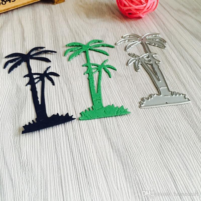 Matrices de découpe en métal de palme de plage Pochoir pour album photo de scrapbooking bricolage Dossier de décoration de cadeau de création de carte de papier