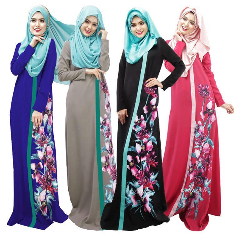 2019 Middle East Turkish Muslim Women Dubai Abaya Dress Islamic Jilbab And Abayas  Clothing Robe Musulmane Print Vestidos Longos Hijab Dresses From ... 07d1f9dcaa9c
