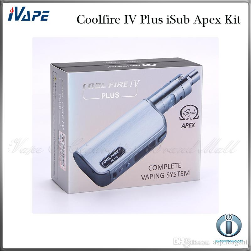 Innokin Coolfire IV Plus iSub Apex Kit With Cool Fire IV Plus 3300mah 70W Mod Battery 3ml iSub Apex Tank 100% Original