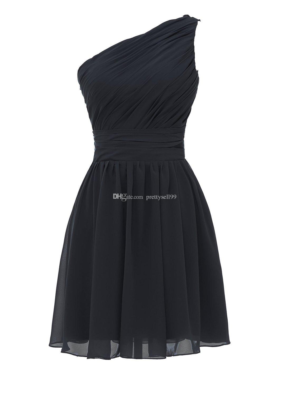 Женские одно плечо короткие платья подружки невесты 2021 длина колена кружев назад шифоновые выпускные вечеринки