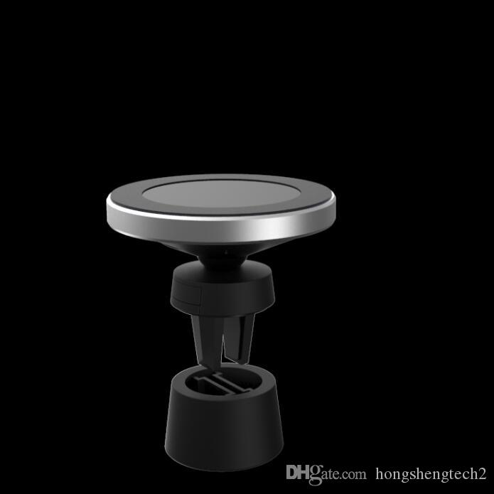 Magnetic Wireless Qi Cell Phone Charger, Air Vent Car Charging Mount Holder Cradle for Android and iPhone