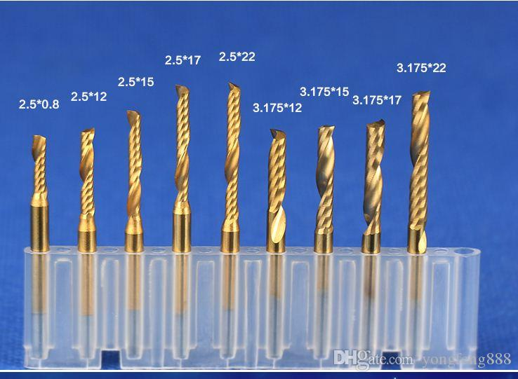 3.175mm shank coating single flute Mill Carbide CNC Engraving router Bits