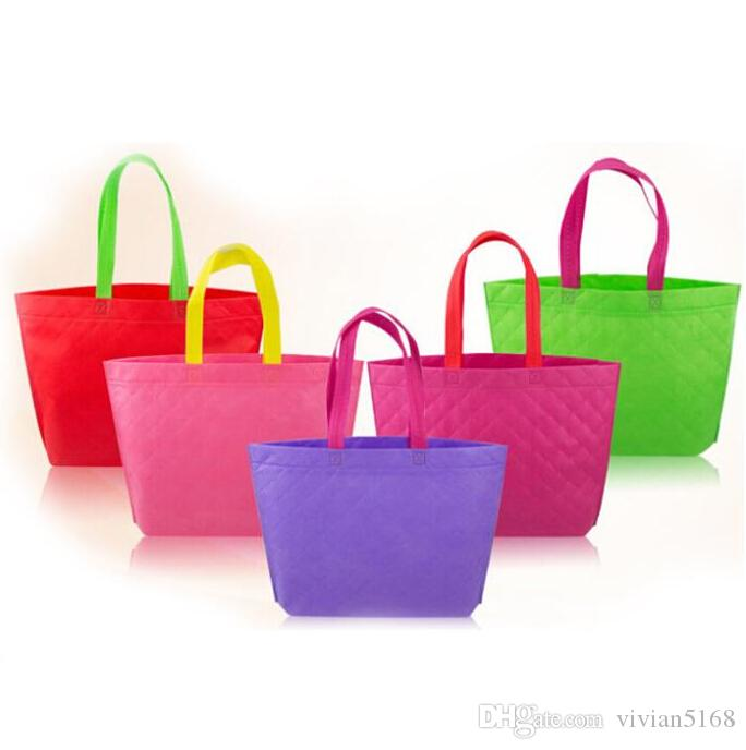 Sacchetti della spesa riutilizzabili di Eco Tessuto di stoffa Imballaggio di generi alimentari Borsa riciclabile Hight Design semplice Borsa di Tote sana Sacchetti di regalo di moda