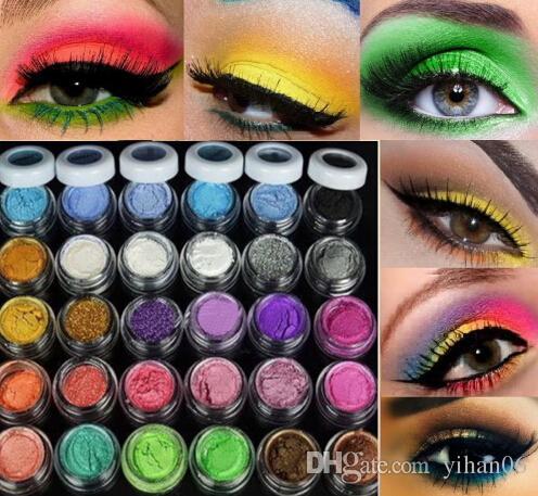 التسوق مجانا 2015 جديد 30 ألوان بريق ظلال العيون بودرة ظلال ماكياج المعدنية المعدنية