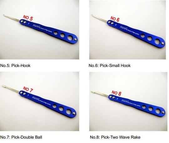 HH 챔피언 시리즈 픽업 세트 20-in-one Lock Picks 툴 세트 잠금 오프너 자물쇠 따기 케이스 포함