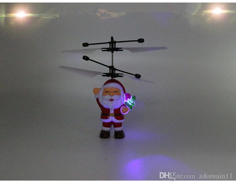 Santa Claus RC Flying Ball Drone Helicopter Built-in Shinning LED Lighting for Kids Teenagers Christmas gift