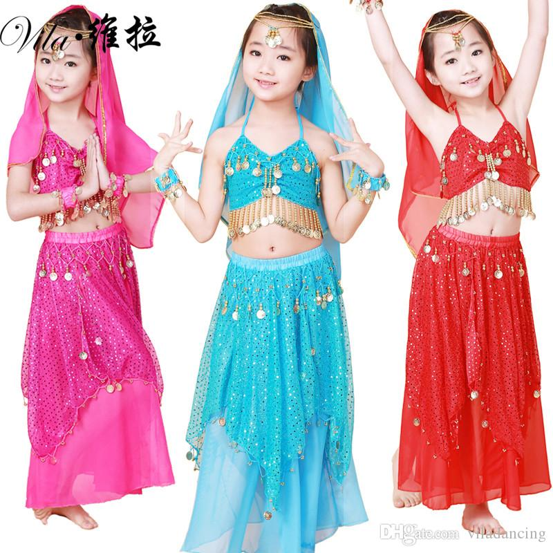 acccfd19f Child Belly Dance Costume Clothes Wear Kids Dance Child Children ...