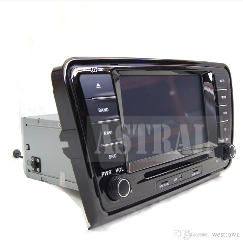 Quad Core 2 Din Car Dvd en reproductores de radio para Skoda Octavia A7 con sistema Android GPS Bluetooth TV CD Mp3 Mp4 iPod