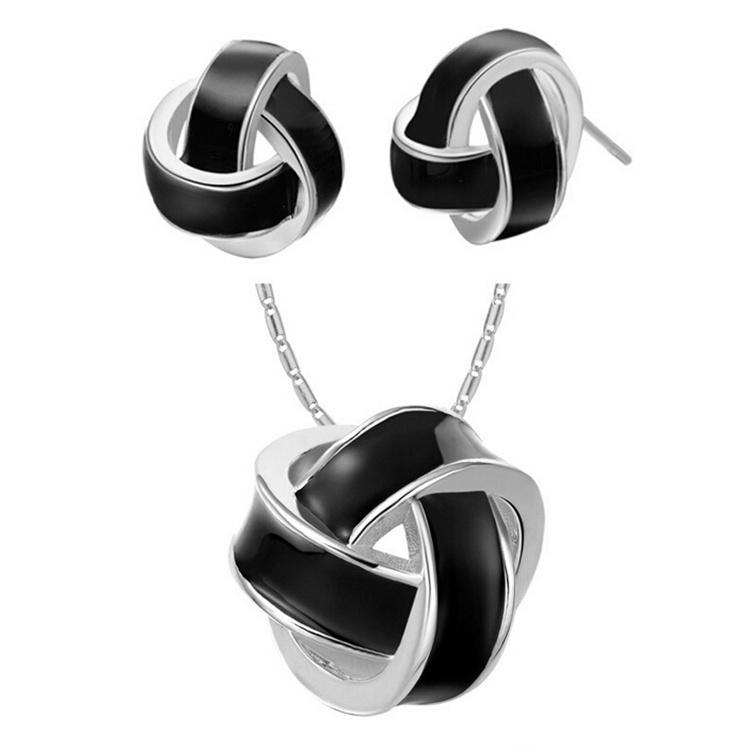 Cheapest Stud Earrings and Pendant Necklace Sets Spherosome Shape Elegant Design Ladies Wedding Jewelry for Bridal G079