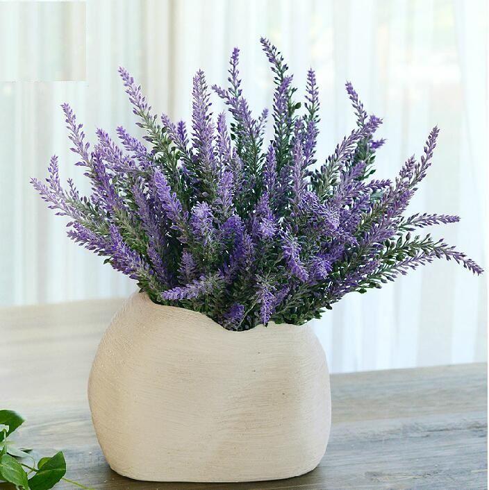 Online Cheap Artificial Lavender Bunch Silk Flowers Lavenders For