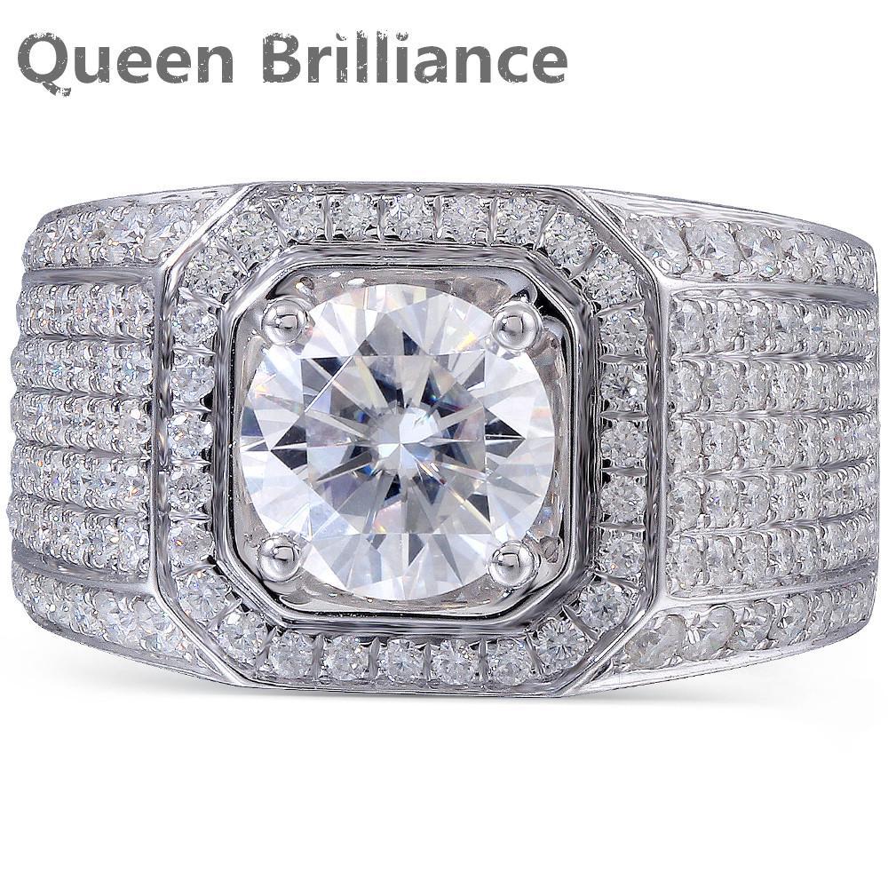 2018 Queen Brilliance 2ct Lab Grown Moissanite Diamond Engagement