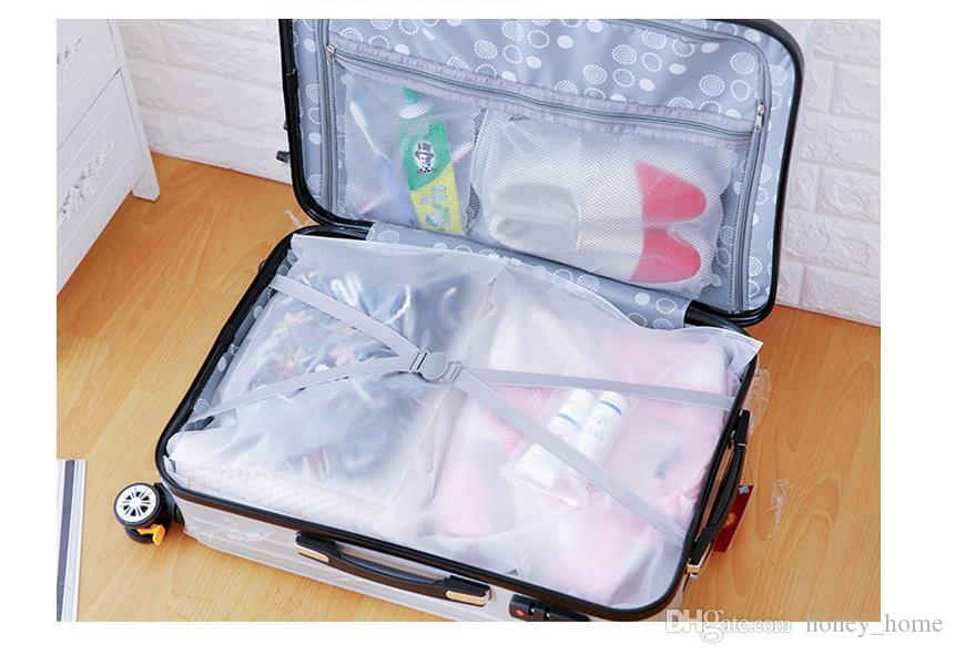 Frosted Transparent Storage Bag Travel Cosmetic Pouch Waterproof Zip lock Shoes Bag Clothes Organizer