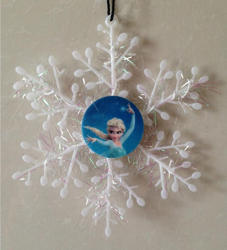 frozen character snowflakes christmas tree decorations anna elsa olaf snow flakes christmas party decoration xmas tree decor christmas hangings christmas - Elsa Christmas Decoration