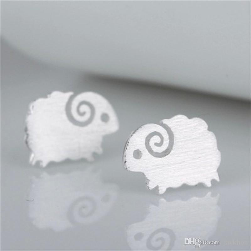 - S046 Cute Little Sheep Studs Earrings Tiny Mutton Earring Goat Earrings Lovely Animal Stud Earrings for Constellation Birthday Gifts