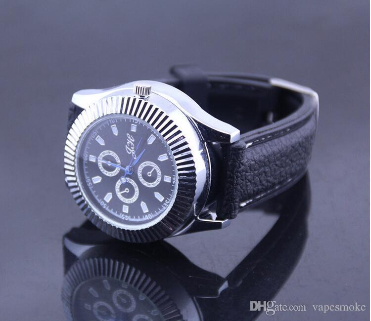Новое прибытие USB зажигалка часы мужчины кварцевые часы аккумуляторная зажигалки USB мода часы смотреть легче USB зажигалка