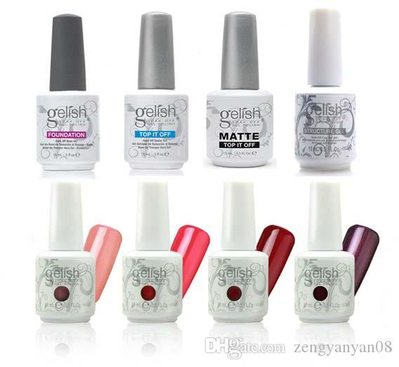 Harmony Gelish Nail Polish STRUCTURE GEL Soak Off Clear Nail Gel LED UV Foundation Top it off Nail art lacquer color gel