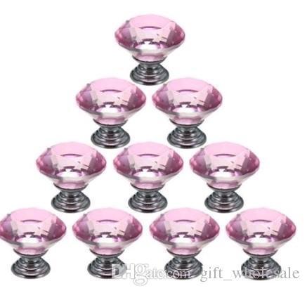 Frete Grátis 100 pçs / lote 30 MM K9 Armário de Cristal claro Maçanetas Gaveta Da Porta / puxar móveis / porta puxar