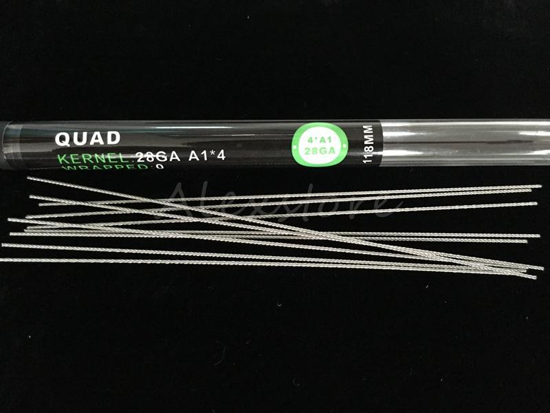 Piane fili ritorti fusa bobine clapton fili alveare Alien miscela attorcigliato Quad Tiger 9 diversa resistenza di riscaldamento 118 millimetri bobina in tubo di RDA
