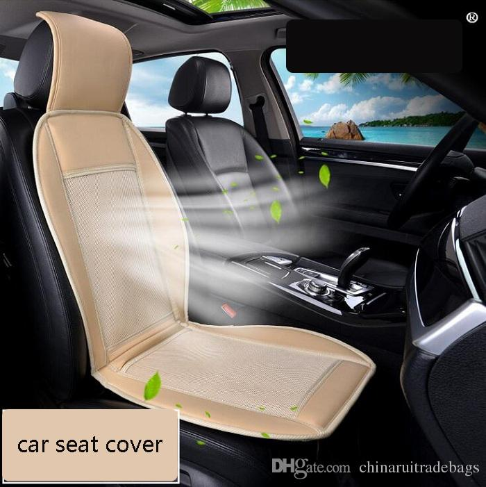 12V Cool Fan Car Seat Covers Universal Fit SUV Sedans Chair Pad Cushion With Motor Driving Square Summer Ventilation Heated From