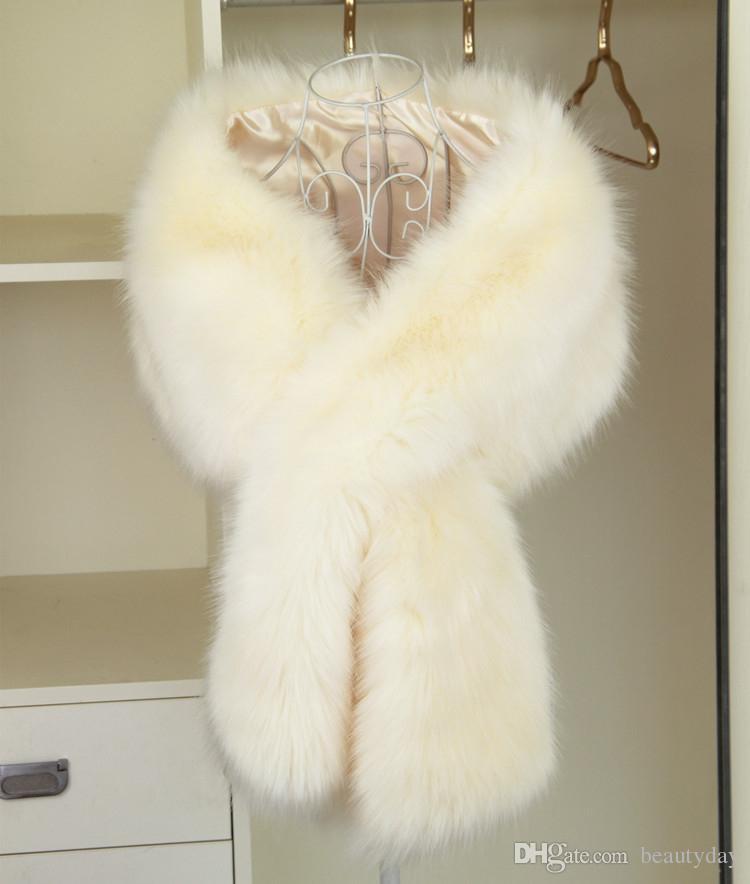 2020 inverno cappotto da sposa da sposa avvolge in pelliccia sintetica scialli bastone caldo capispalla nero gary rosa scrollata di spalle damigella d'onore festa di natale di sera