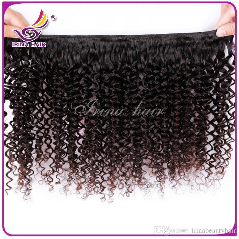 50% Kapalı! Yeni Kıvırcık Saç Uzantıları 100% Brezilyalı Bakire Saç Sapıkça Kıvırcık 3 adet Perulu Malezya Hint Moğol Kinky Kıvırcık Saç Örgüleri