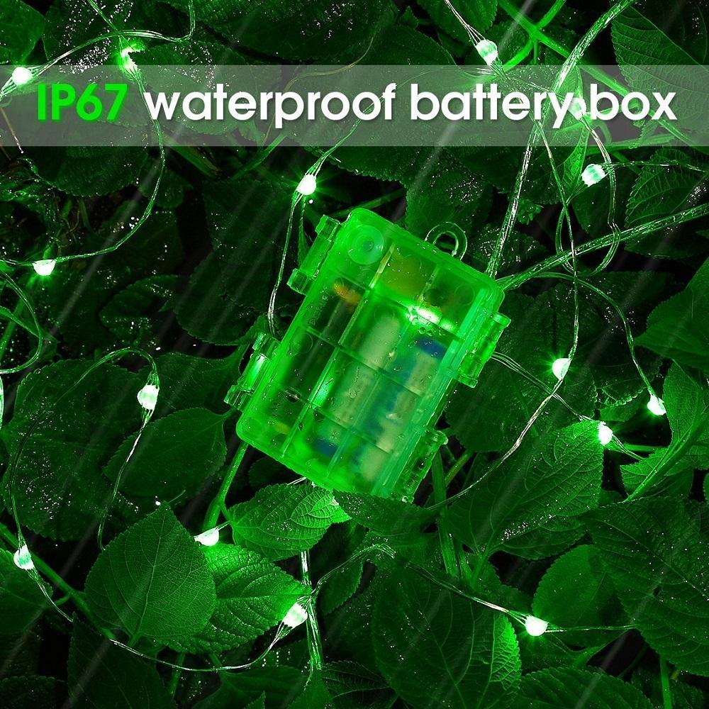 Diy natal 33ft led string luzes bateria operado luzes multi cor mudando luzes da corda de controle remoto à prova d 'água 16.4ft decorativa