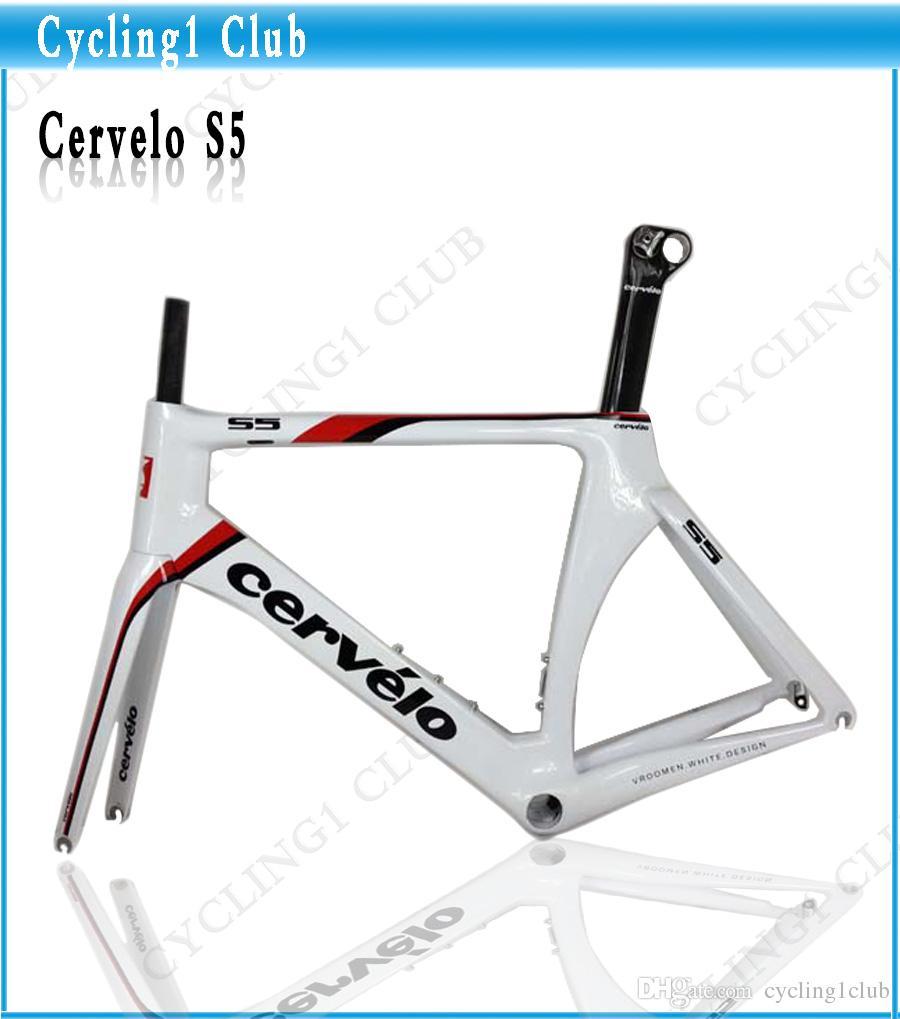 Großhandel Weißrot S5! Cervelo S5 Fahrradrahmen Cervelo Carbon ...