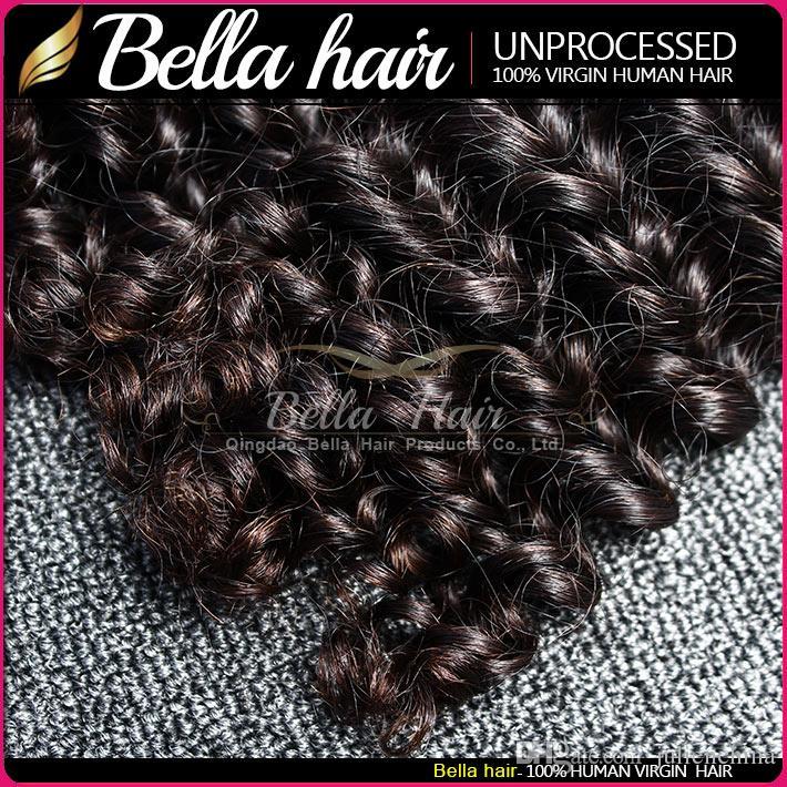 Bella Hair® Partihandel 10st / 9A Brasilianska tillägg 10-24 tum Naturfärg Mänskligt hår Vävde djupvåg