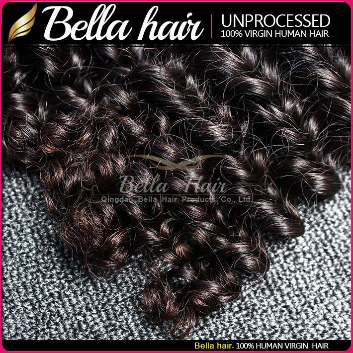 Bellahair 10 ~ 24inch 처녀 인도의 머리카락 확장 처리되지 않은 자연 색상 깊은 웨이브 줄리 닐 2 번들