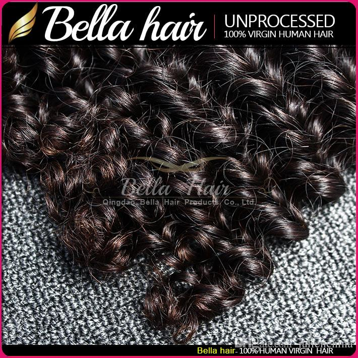Brand Original Hair! / parti 9a 10-24INCH Obehandlad djupvåg Malaysisk Original Human Hair Extension Gratis frakt