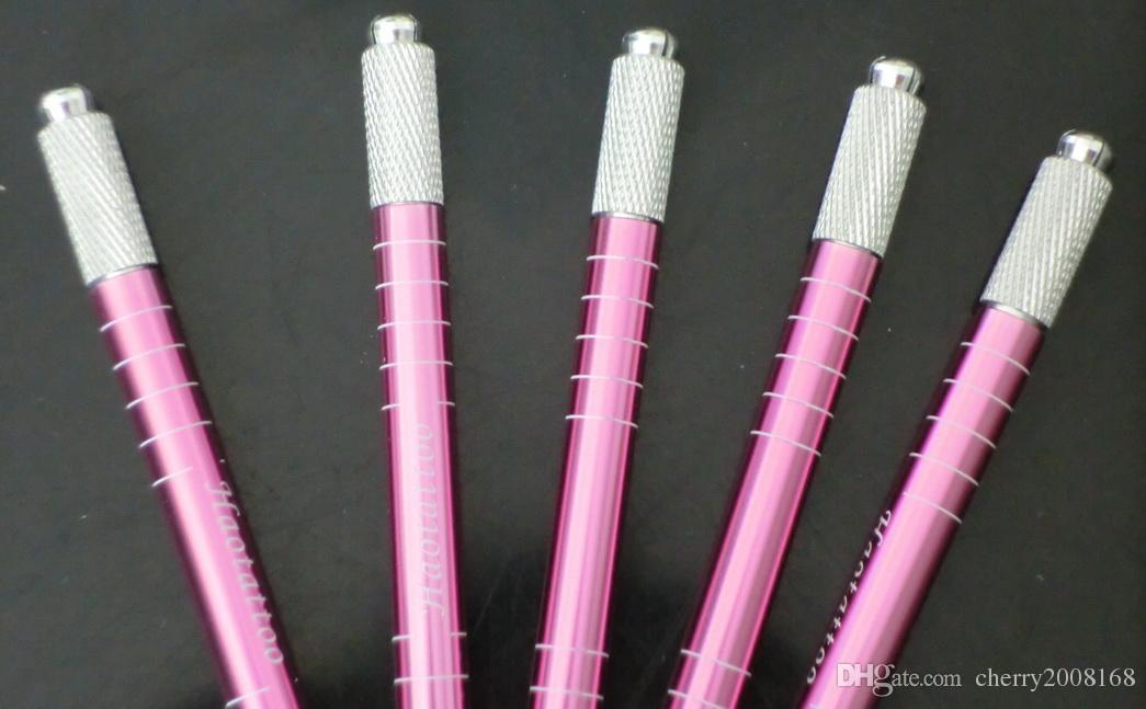 دليل آلة الوشم الحاجب الوردي القلم ل ماكياج دائم 5 قطع wholeseale كلا الجانبين يمكن استخدامها