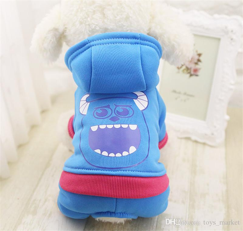 Cotton Pet Dog Clothing Pet Dog Clothes Winter Playsuit Coat for Dog Hoodies American Captain Pets Costumes Dress Coat