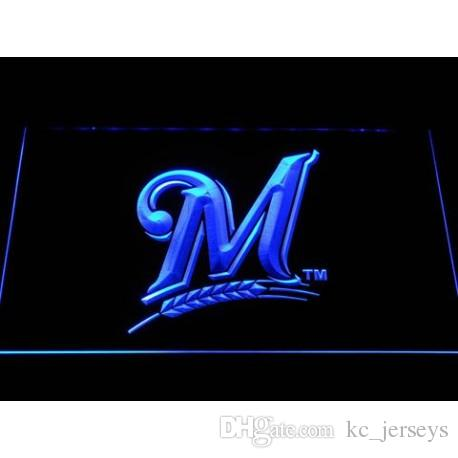 Milwaukees Baseball Sports USA Team Fan LED Neon Sign Light Custom Neon  Signs led signs Design Your Own Bar Signs Drop Ship A2