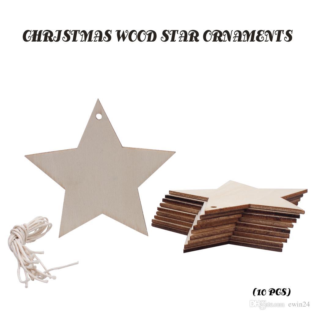 Рождественские украшения дерево Xmas дерево Звезда для дома партии Свадебный декор 10 шт. Оптовая падение Бесплатная доставка