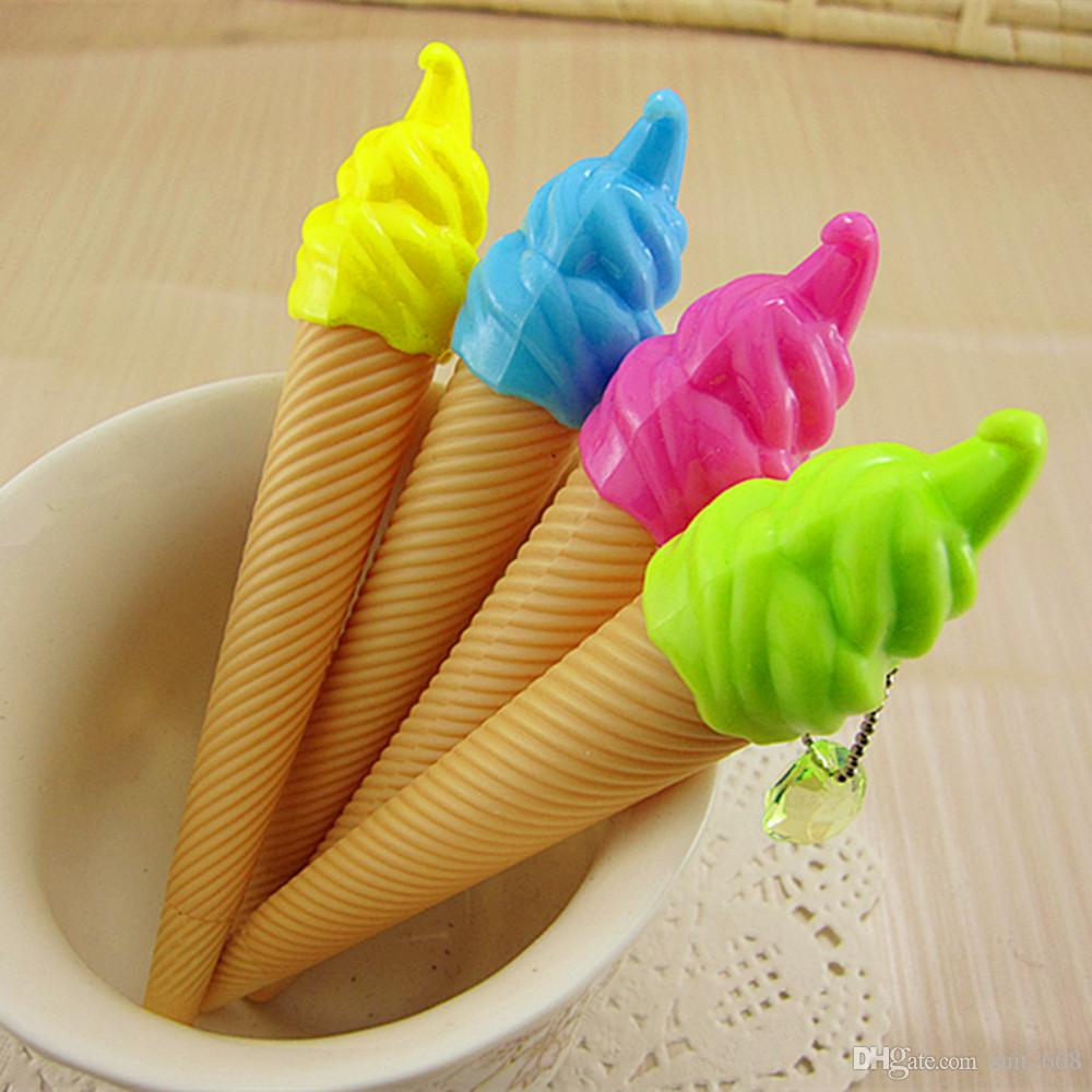 South Korea creative stationery ultra-realistic ice cream cone ice cream gel ink pen factory direct