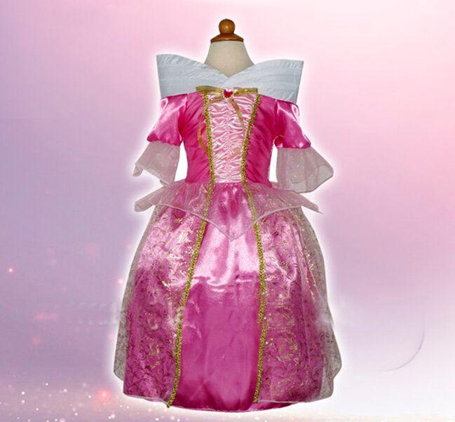 2017 Sleeping Beauty Costumes Princess Aurora Kids Girl Party ...