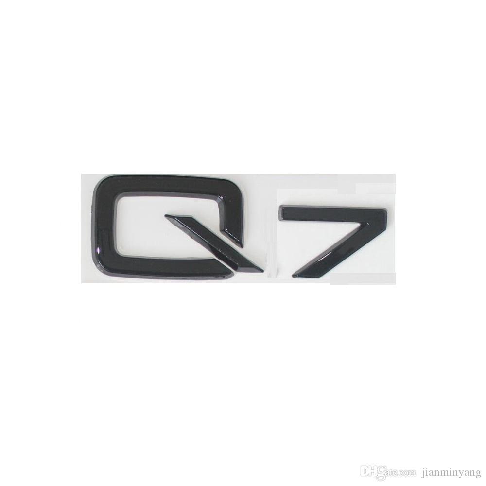 "Gloss Black "" Q 7 "" Trunk Rear Letters Words Badge Emblem Sticker for Audi Q7"