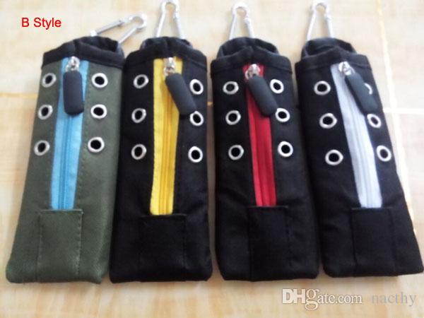 Rich Colors Cloth Style Carry Pouch Bag Sigarette Borsa da trasporto Mechanical Mod Case con gancio EGO X6 RDA RBA Atty Vamo Aspire Eroll Mods